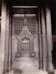 The Lily Throne in the Lily Throne Hall, [Mandalay]